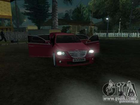 Hyundai Genesis for GTA San Andreas inner view