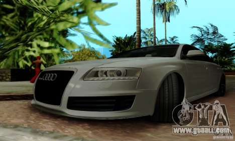 Audi RS6 2009 for GTA San Andreas bottom view