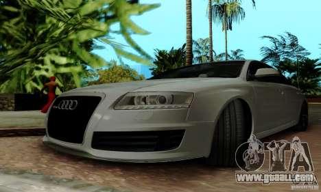 Audi RS6 2009 for GTA San Andreas bottom view