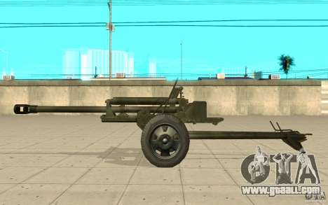 The ZiS-3 gun for GTA San Andreas left view