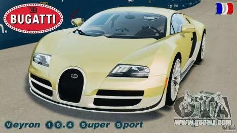 Bugatti Veyron 16.4 Super Sport 2011 v1.0 [EPM] for GTA 4