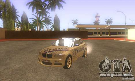 BMW 135i (E82) for GTA San Andreas inner view
