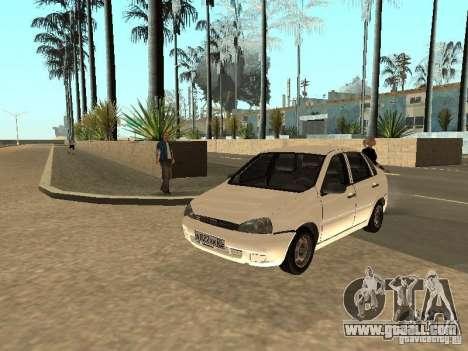 Lada Kalina for GTA San Andreas inner view