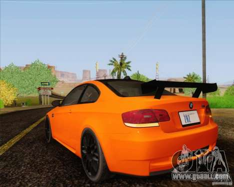 BMW M3 GT-S for GTA San Andreas back view
