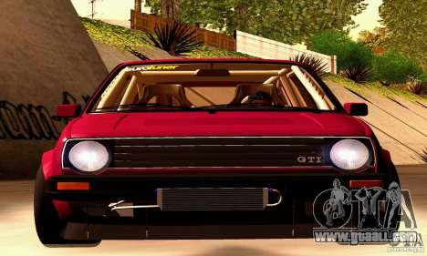 Volkswagen Golf MkII Racing for GTA San Andreas right view