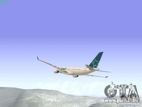 Airbus A330-200 Air Transat for GTA San Andreas right view