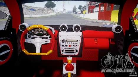 Pagani Zonda F for GTA 4 right view