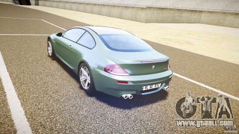 BMW M6 v1.0 for GTA 4 right view