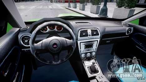 Subaru Impreza STI Wide Body for GTA 4 right view