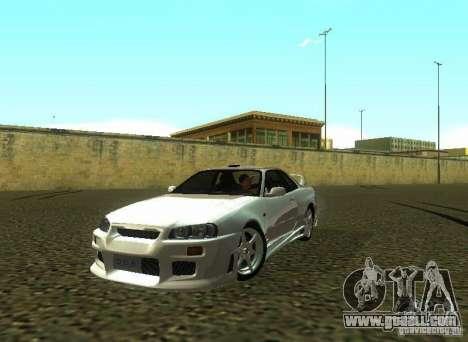Nissan Skyline GTR-34 for GTA San Andreas