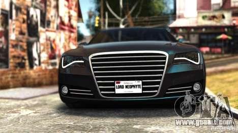 Audi A8 2010 for GTA 4
