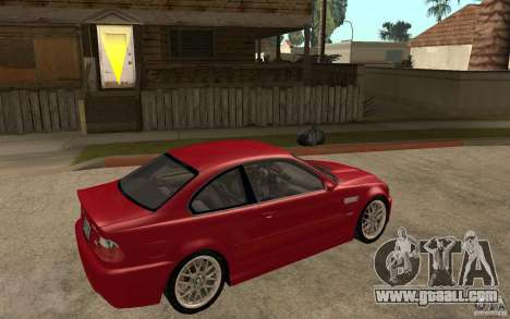BMW M3 CSL for GTA San Andreas right view