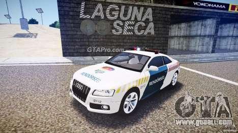 Audi S5 Hungarian Police Car white body for GTA 4
