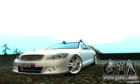 Mercedes-Benz S500 W221 Brabus for GTA San Andreas