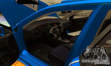 Mitsubishi Lancer Evo 8 Tunable for GTA San Andreas bottom view