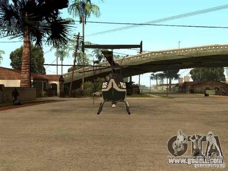 Police Maverick for GTA San Andreas back left view