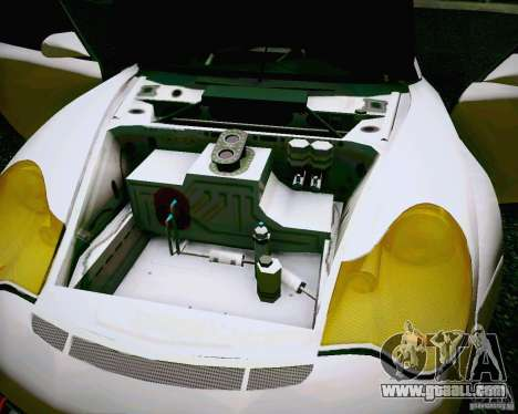 Porsche 911 GT3 for GTA San Andreas inner view
