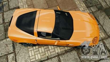 Chevrolet Corvette C6 Grand Sport 2010 for GTA 4 right view