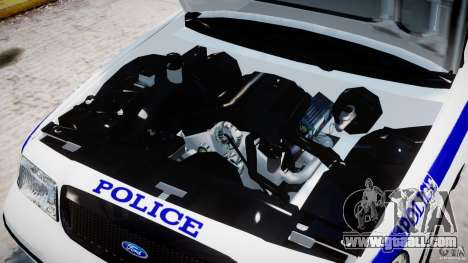 Ford Crown Victoria NYPD for GTA 4 inner view