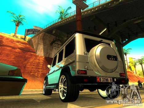 Mercedes-Benz G500 ART for GTA San Andreas back left view