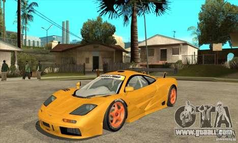 McLAREN F1 GTR GULF 1996 for GTA San Andreas