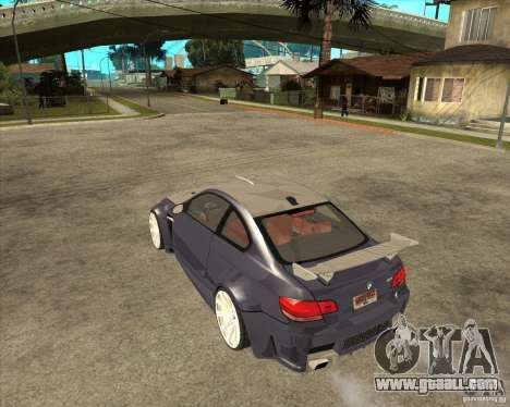 BMW M3 E92 TUNED for GTA San Andreas left view