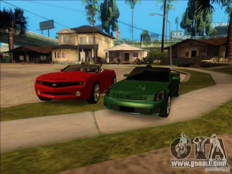 Cadillac XLR for GTA San Andreas bottom view