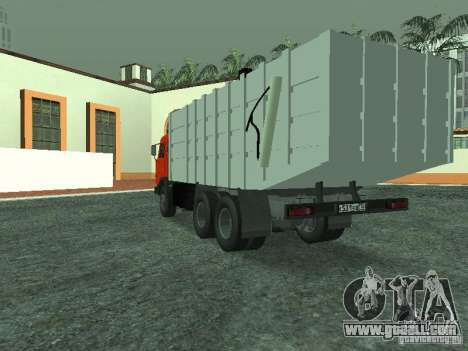 KAMAZ 53215 garbage truck for GTA San Andreas back left view