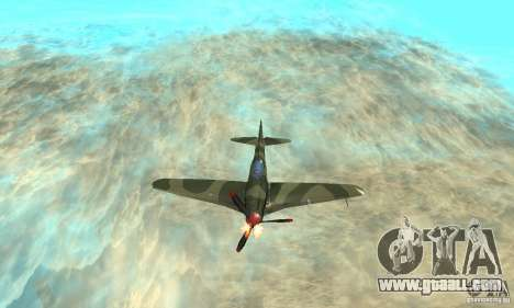Yak-9 during WORLD WAR II for GTA San Andreas upper view