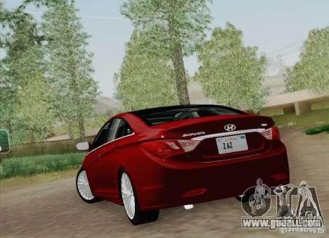 Hyundai Sonata 2012 for GTA San Andreas back view