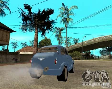 ZAZ 965 Zaporozhets HotRod for GTA San Andreas back left view
