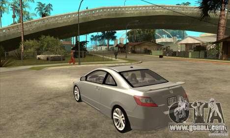 Honda Civic Si - Stock for GTA San Andreas back left view