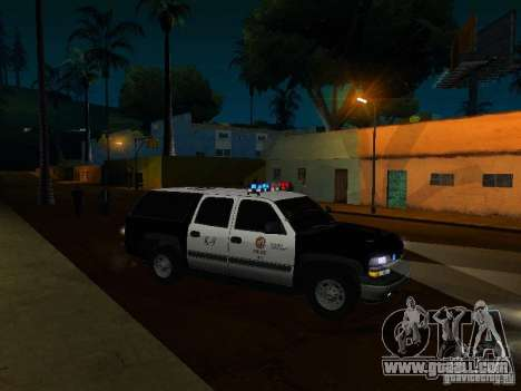Chevrolet Suburban Los Angeles Police for GTA San Andreas side view