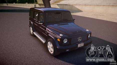 Mercedes Benz G500 (W463) 2008 for GTA 4 inner view