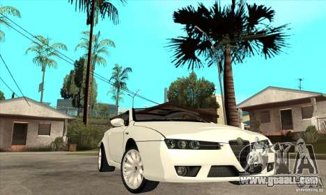 Alfa Romeo Brera for GTA San Andreas back view