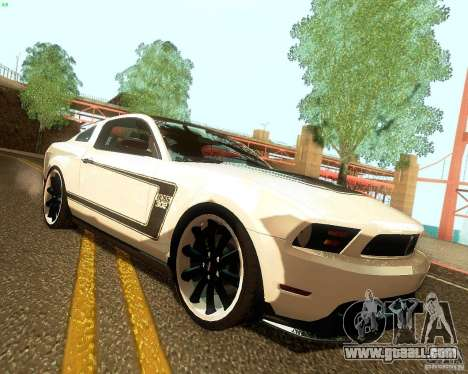Ford Mustang Boss 302 2011 for GTA San Andreas right view