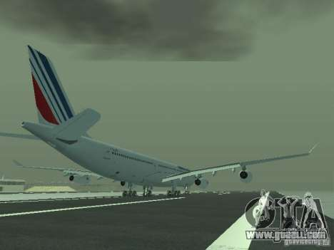 Airbus A340-300 Air France for GTA San Andreas right view
