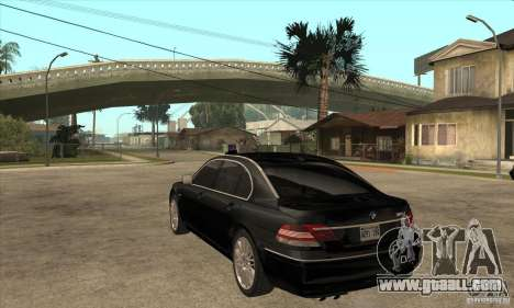 BMW 760Li (e66) SE for GTA San Andreas back left view