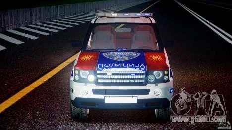 Range Rover Macedonian Police [ELS] for GTA 4 interior