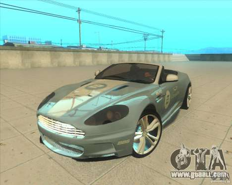 Aston Martin DBS Volante 2009 for GTA San Andreas back view