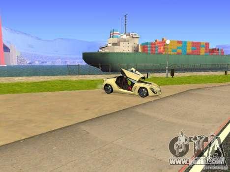 Bertone Mantide for GTA San Andreas upper view