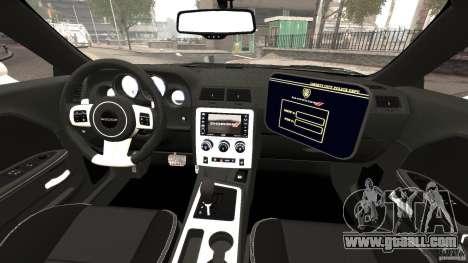 Dodge Challenger SRT8 392 2012 Police [ELS][EPM] for GTA 4 back view