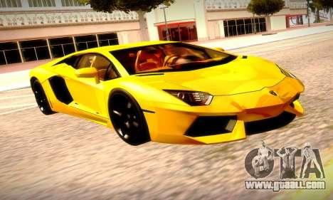 Lamborghini Aventador LP 700-4 for GTA San Andreas back view