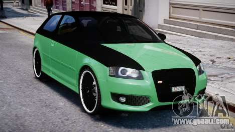 Audi S3 for GTA 4 upper view