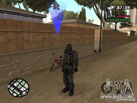Stalker mercenary in mask for GTA San Andreas