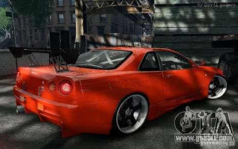 Nissan SkyLine BNR34 for GTA 4 right view