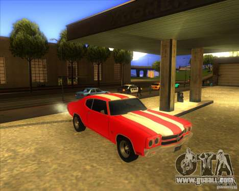 Chevy Chevelle SS stock 1970 for GTA San Andreas back view