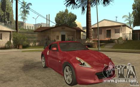 Nissan 370Z 2010 for GTA San Andreas back view