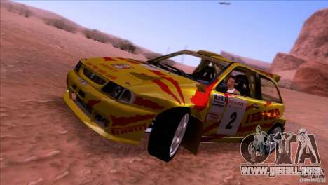 Seat Ibiza Rally for GTA San Andreas back left view