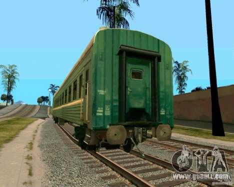The car of the Russian railways 2 for GTA San Andreas left view